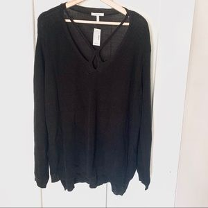 NWT Maurices Lightweight Knit Cutout Top Size 3